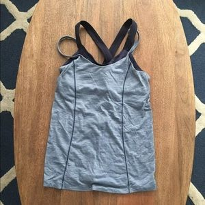 Lululemon Blue Crossbody Tank Sz 2